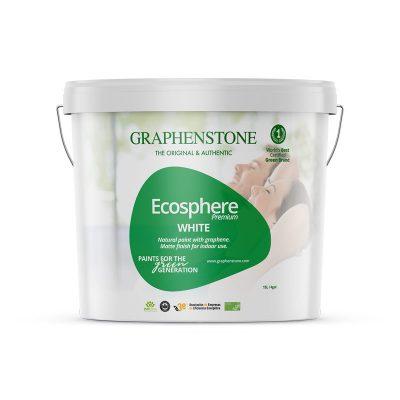 Ecosphere duurzame muurverf wit binnen graphenstone verfgroen