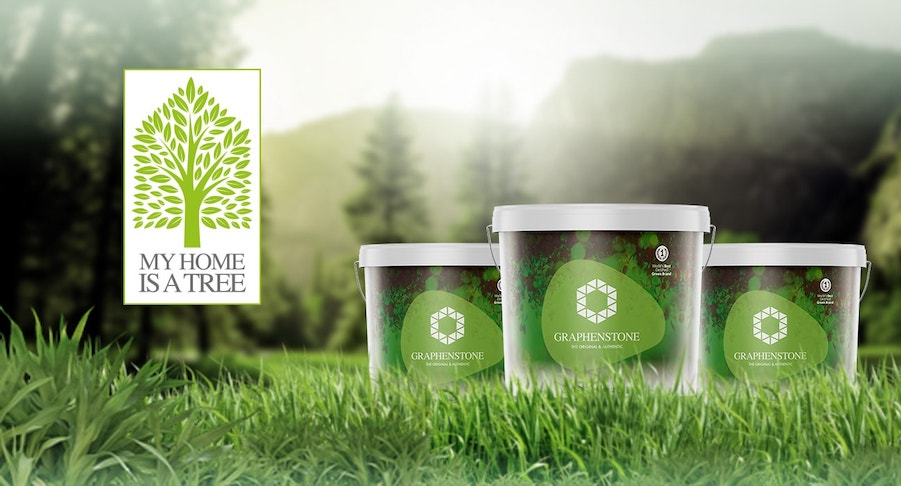 Duurzame verf echt duurzaam Duurzame Graphenstone verf kopen 3 emmers absorberen verf als een boom duurzame en circulaire verf